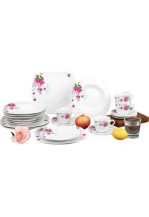 Aparelho De Jantar Sanxia Estampado 20 Peças 3441 Branco