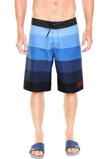 Bermuda Água Calvin Klein Jeans Listrada Azul