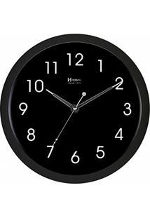 ca4bac965da ... Relógio De Parede Moderno Analógico Sofisticado Com Iluminação Sensor  Noturno Herweg Preto