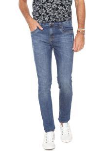 Calça Jeans Hering Slim Desfiada Azul