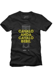 Camiseta Reserva Cavalo Masculina - Masculino-Preto