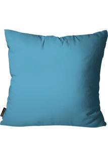 Capa Para Almofada Premium Cetim Mdecore Lisa Azul 45X45Cm