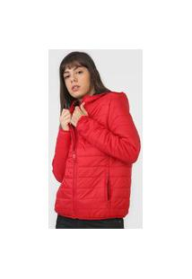Jaqueta Puffer Ellus 2Nd Floor Color Nylon Vermelha
