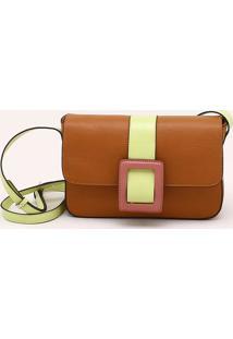 Bolsa Shoulder Bag Couro Color Blush Sépia - P