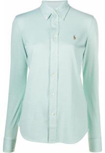 Polo Ralph Lauren Camisa Oxford Com Logo Bordado - Verde
