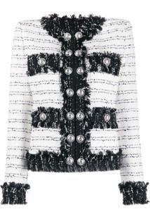 Balmain Jaqueta De Tweed Com Botões - Preto