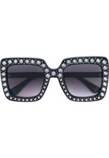 bd30bcaf0 Óculos De Sol Gucci Swarovski feminino   Shoelover