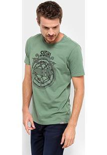 Camiseta Jab Sushi Masculina - Masculino-Verde