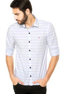 Camisa Carlos Brusman Listras Multicolorida