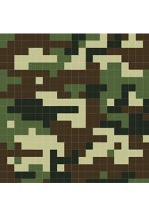 Papel De Parede Adesivo Camuflagem Digital Verde E Marrom