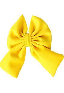 Presilha Laço De Tecido Amarelo Amarelo
