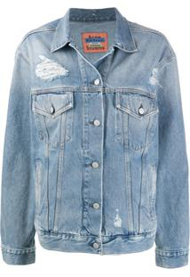 Acne Studios 2000 Patched-Up Denim Jacket - Azul
