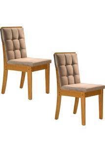 Conjunto Com 2 Cadeiras Vermont Ypê E Bege