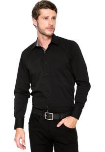 Camisa Aleatory Slim Comfort Preta