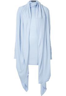Y/Project Vestido Com Drapeado - Azul