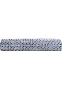 Lençol Com Elástico Royal Plus Solteiro- Azul & Cinza