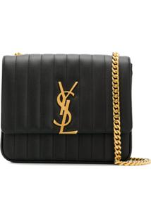 Saint Laurent Vicky Shoulder Bag - Preto