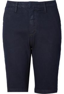 Bermuda Dudalina Básica Bolso Faca Jeans Feminina (Jeans Escuro, 36)