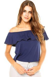 Blusa Ciganinha Fiveblu Fashion Azul