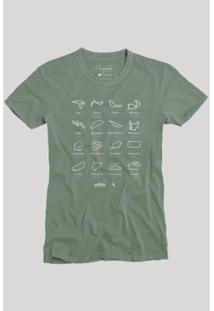 Camiseta Circuitos Reserva Masculina - Masculino-Verde