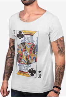 Camiseta Velho K Mescla Claro Gola Canoa 103404
