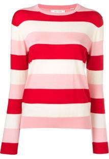 Chinti & Parker Suéter Listrado De Tricô - Rosa