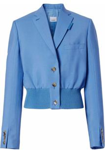 Burberry Reconstructed Single-Breasted Blazer - Azul
