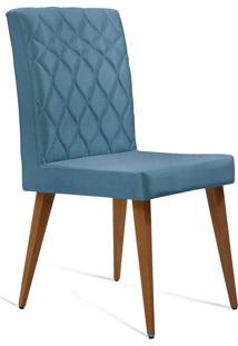 Cadeira Julia Com Matelassê Azul-Jeans Daf