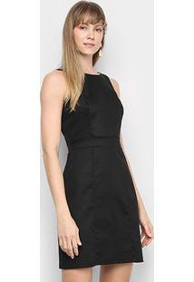 Vestido Mercatto Liso - Feminino-Preto
