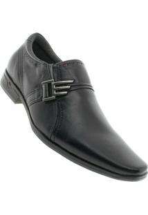 Sapato Pegada Mestiço Social Sem Cadarço - Masculino-Preto