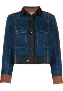 Frame Panelled Jacket - Azul