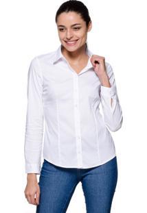 Camisa Intens Manga Longa Algodão Branco