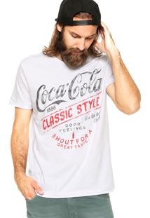 Camiseta Coca-Cola Jeans Classic Style Branca