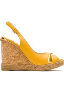 Jimmy Choo Sandália Plataforma Amely De Couro - Amarelo