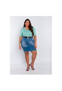 Saia Plus Size Feminina Sigma Jeans