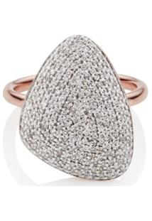 Monica Vinader Anel Nura Com Diamante - Dourado