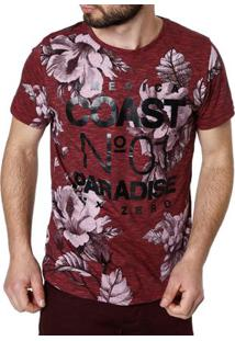 Camiseta Manga Curta Masculina Vermelho