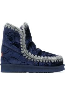 Mou Quilted Ankle Boots - Azul