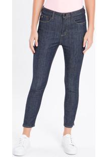 Calça Jeans Five Pockets Super Skinny Hi - Azul Marinho - 36