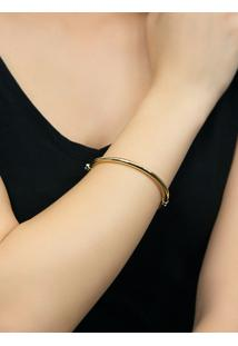 Pulseira De Ouro 18K Feminina Bracelete Algema Oval