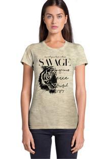 Camiseta Básica Joss Savage Bege