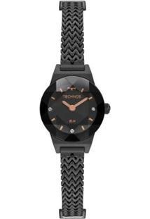Relógio Technos Elegance Mini 5Y20It/4P 21Mm Aço Feminino - Feminino-Preto