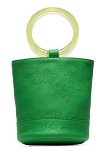 Simon Miller Bolsa Tote Bonsai 20 De Couro Verde Limão