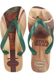 Chinelo Masculino Havaianas Star Wars Bege