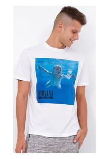 Camiseta Com Estampa Nirvana