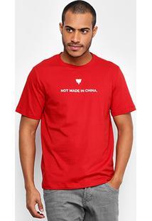 Camiseta Cavalera Gola Careca Not Made Masculina - Masculino