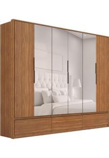 Guarda-Roupa Casal Com Espelho Moara Ii 6 Pt 7 Gv Amêndola