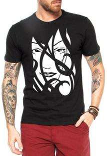 Camiseta Criativa Urbana A Face Da Mulher Tribal - Masculino