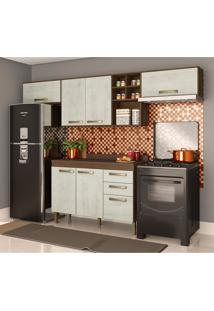 Cozinha Compacta Viena Ii 7 Pt 2 Gv Marrom E Gelo