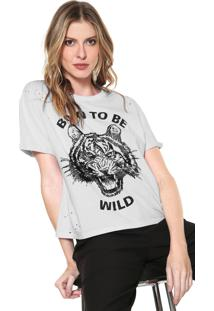 Camiseta Carmim Born To Be Wild Branca